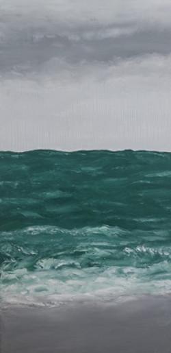 Pluie sur la mer