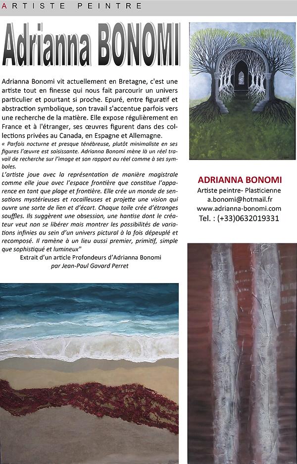 Article sur l'artiste Adrianna Bonomi
