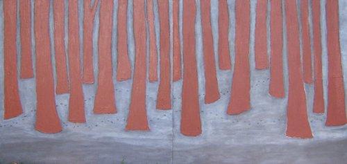 Empreinte dans le bois