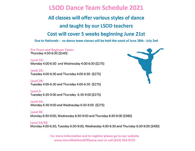 2021 LSOD DT Summer Schedule Landscape.j