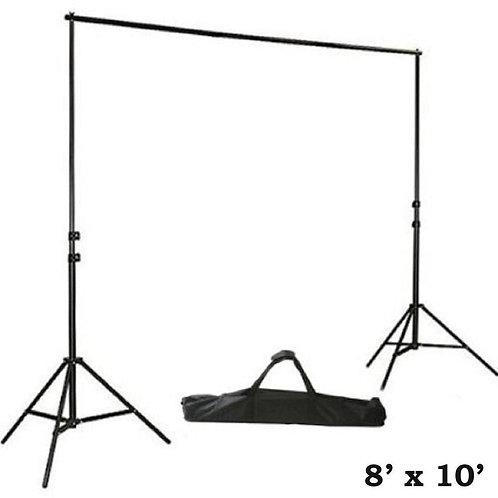 8ft x 10ft Adjustable Heavy Duty Drape Background