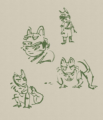 wolfboy scribble