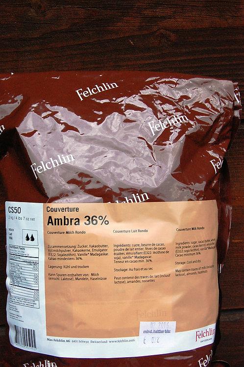 Felchlin Ambra Rondo 36% / Milk couverture 1/2 kilo