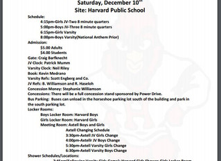 Bball info for Dec 10 in Harvard