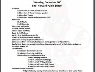 Bball info for Dec 10 in Harvard