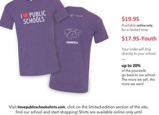 Wildcat Pride I ❤ Public Schools Shirts
