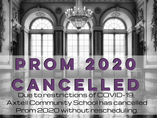 Axtell Prom 2020 Cancelled