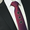 Thumbnail: deep pink - circle heart silk tie