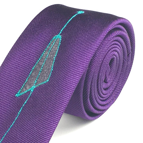 rich purple - fifties triangle silk tie