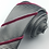 Thumbnail: black silver - three stripe silk tie