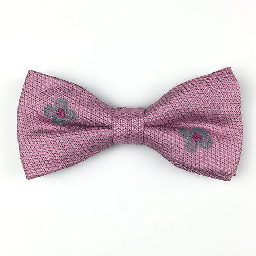 rose pink - two daisy silk bow