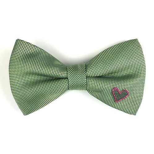 vibrant green - one heart silk bow