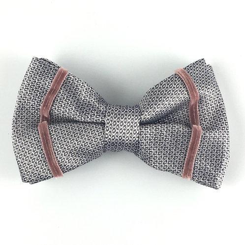 silver navy -  stripe silk bow