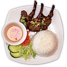 BBQ Lamb Chops with Rice