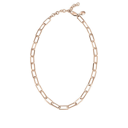 JOIN UP COLLANA A CATENA IN ACCIAIO LUCIDO IP ROSE' REF.  TJ2927
