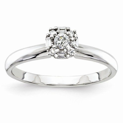 14kt Engagement Ring, 0.16ct Multi-Stone