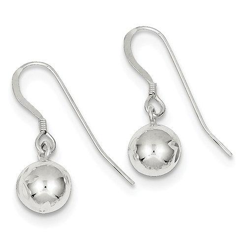 Diamond-Cut Ball Dangles, Sterling Silver