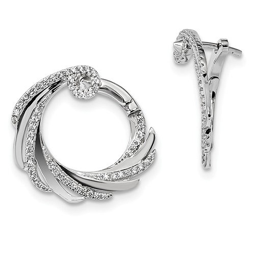 Fashion CZ Circles, Sterling Silver