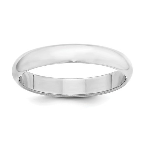 Sterling Silver Half Round Band, Polished
