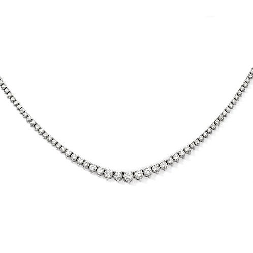 "Shimmer® Sterling Necklace, 164 ""AA"" CZ Stones"