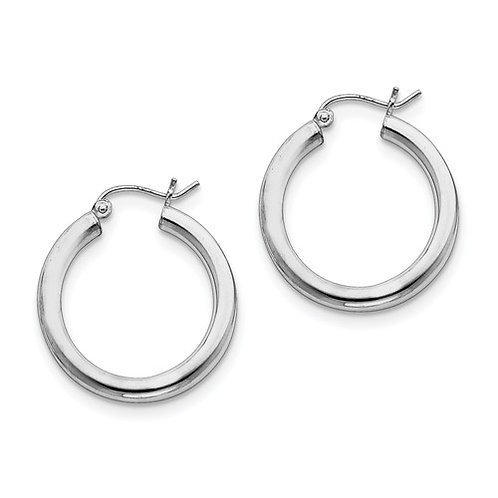 Classic Hoops, 3.0mm Sterling Silver Polished