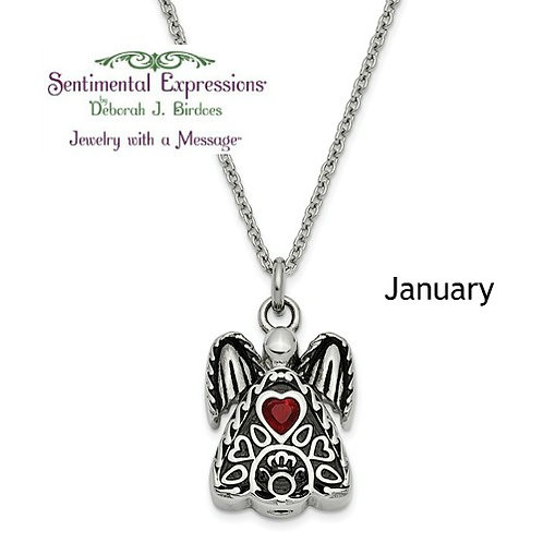 Sentimental Expressions® Ash Holder: Birthstone Angel