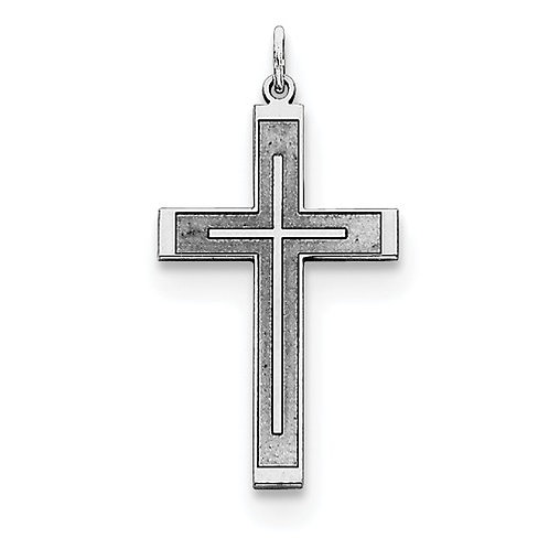 Classic Latin Cross, Laser Cut Sterling