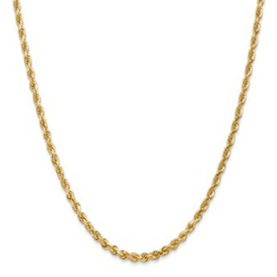 14kt Yellow Gold D/C Rope, 3.20mm