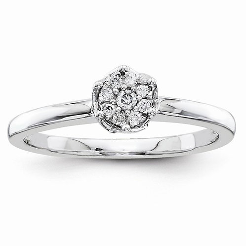14kt Engagement Ring, 0.10ct Multi-Stone