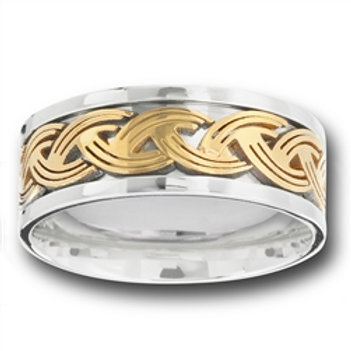 Stainless Steel Band, IP Gold Plated