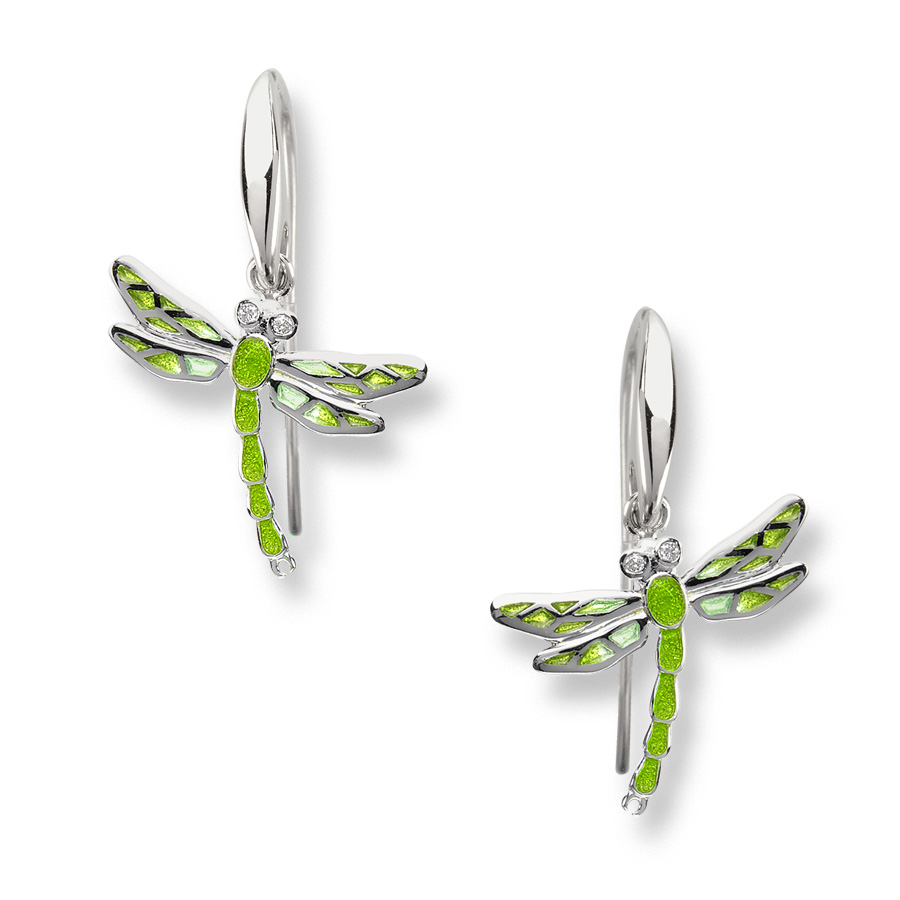 Sterling Silver Dragonfly Wire Earri
