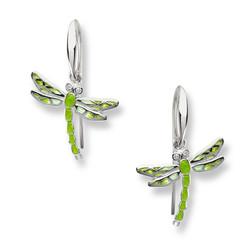 Sterling Silver Dragonfly Wire Earri