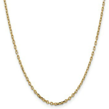 14kt Chain, Diamond-Cut Round Open Link Cable