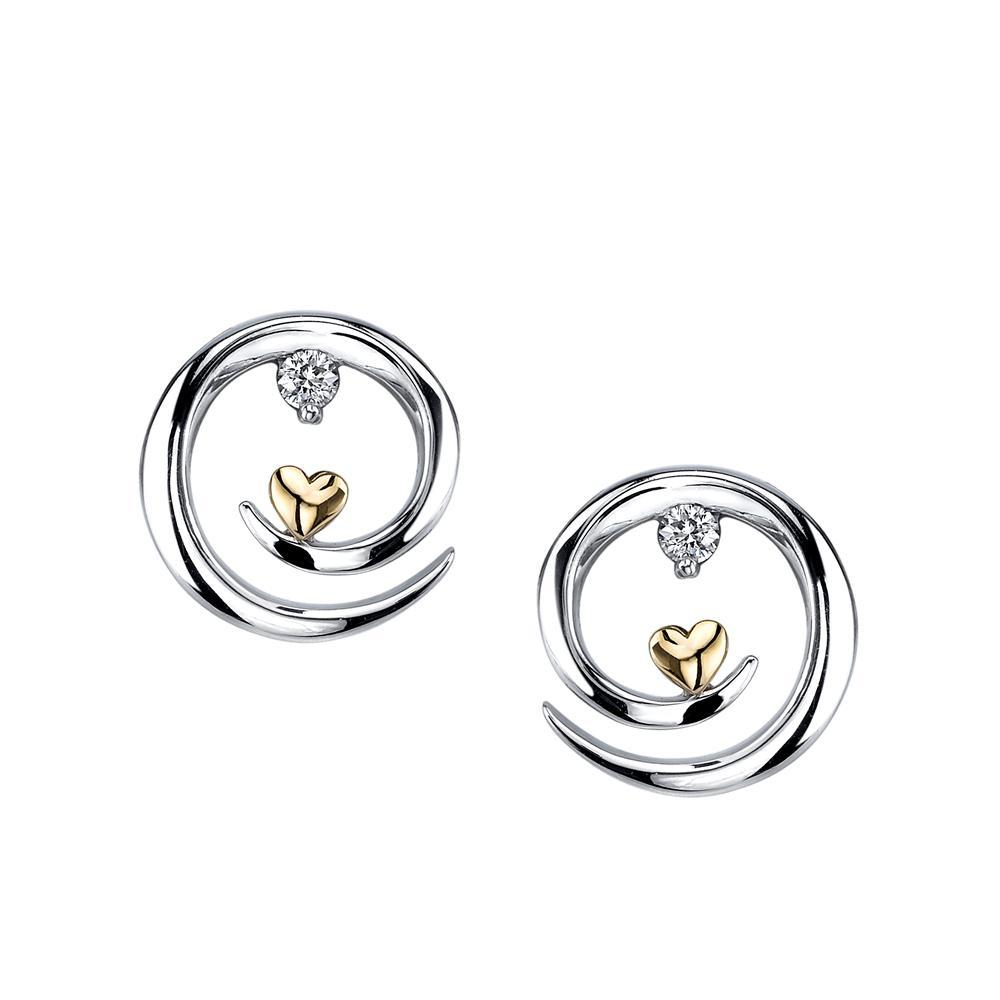 Arms of Love Diamond Earrings 1/15ct