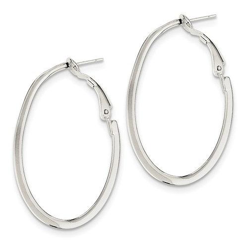 Omega Fashion Hoops, Oval Tube Sterling