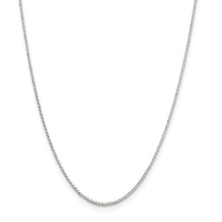 Sterling Silver Pendant Chain, 1.40mm Rolo Link
