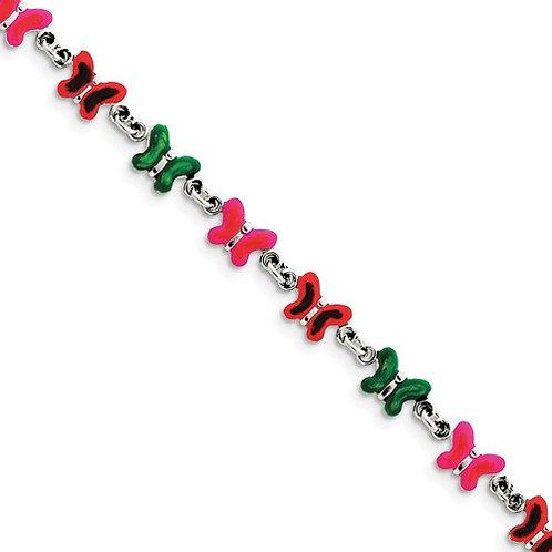 Quality® Child's Bracelet, Sterling Butterfly Links