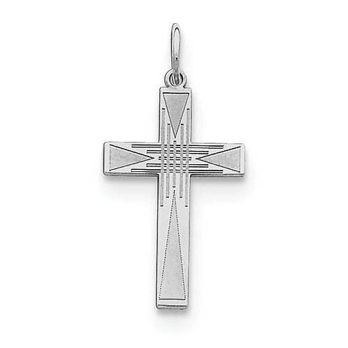 Classic Latin Cross, Laser Cut Sterling