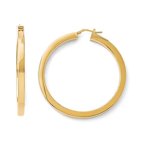 Flash Plate Bronze Hoops, Square Tubes