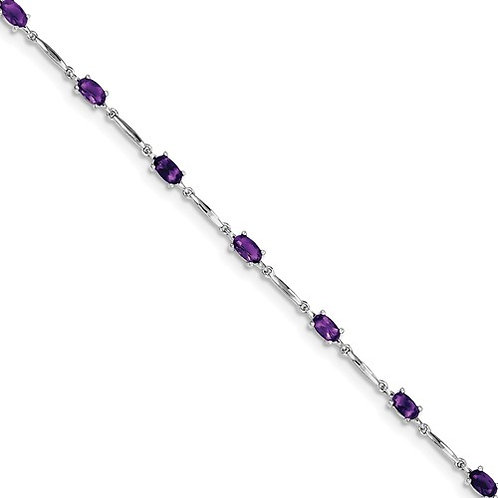 "Sterling Bracelet, 2.15ct Genuine ""AA"" Amethyst"