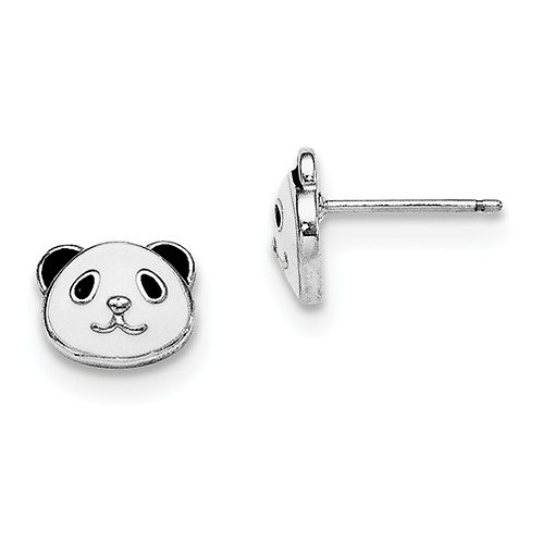 Mady K® Child's Earrings, Sterling Panda
