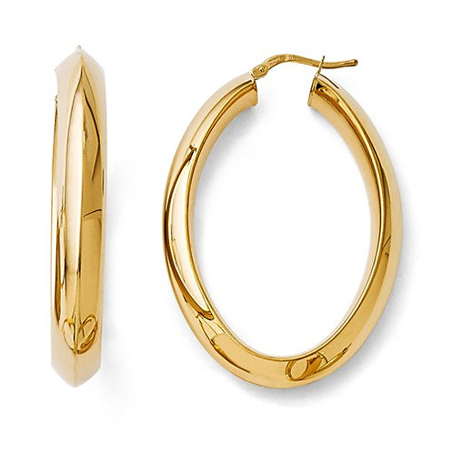 Flash Plate Bronze Hoops, Oval Tubes