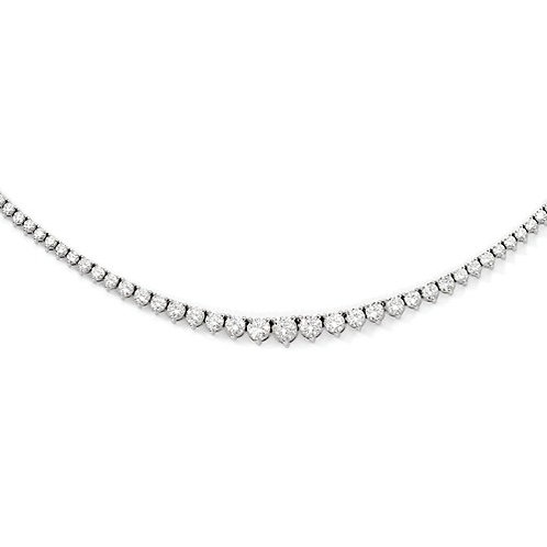 "Shimmer® Sterling Necklace, 131 ""AA"" CZ Stones"