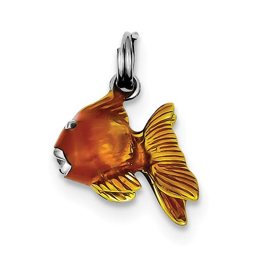 Quality® Child's Pendant, Sterling Goldfish