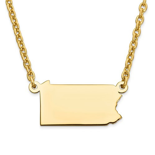 State Pride Pendant on Necklace