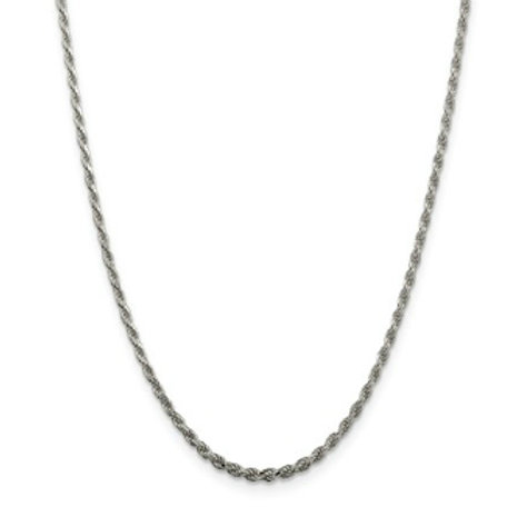 Sterling Silver Chain, Diamond-Cut Rope