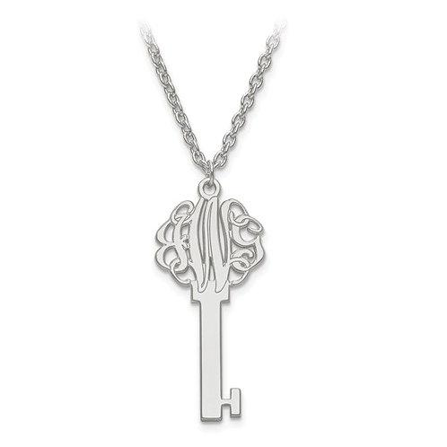 Personalized Monogram Key Pendant w/Chain