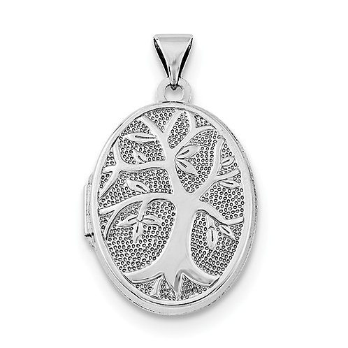 "Oval Locket, Sterling Silver ""Tree of Life"""