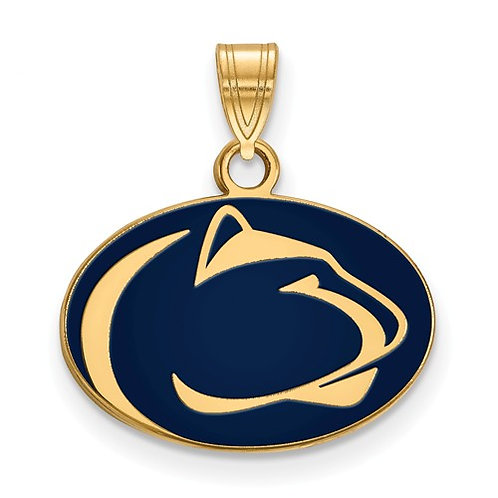 Penn State Gold Plated Sterling Pendant / Charm