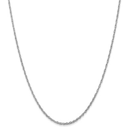 14kt White Gold Baby Rope